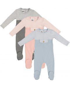 Maniere Unisex Cotton Snap Pocket Stretchie - SPFW21