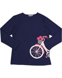 Martino Girls Long Sleeve Bicycle T-shirt - DH042