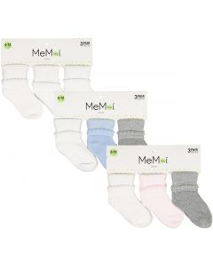 Memoi Baby Boys Girls Unisex Bootie Socks 3 Pack - MK-5080
