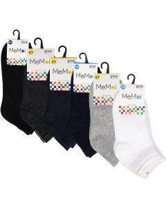Memoi Boys Girls Unisex Mid-Cut Crew Socks 3 Pack - MK-556