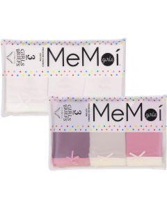 Memoi Girls Rose Briefs 3 Pack - MKU1001