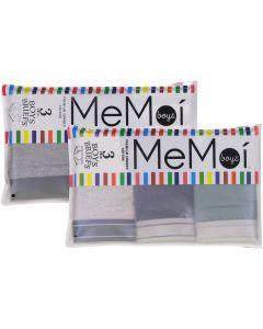 Memoi Boys Briefs 3 Pack - MKU1013