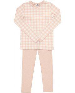 Milk Girls Cotton Checked Pajamas - WB1CP4473