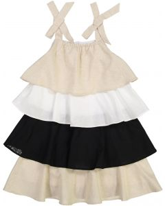 Mini Donna Girls Tiered Ruffle Dress - 1027