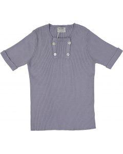 Mocha Noir Boys Short Sleeve Ribbed Sweater - SB0CP4188
