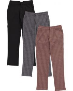 Mocha Noir Boys Herringbone Dress Pants - WB1CP309