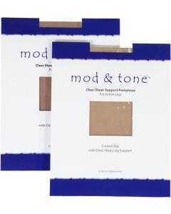Mod & Tone Womens Control Top Pantyhose - 1220