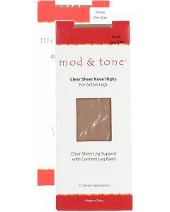 Mod & Tone Womens Clear Sheer Knee High - 1520