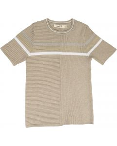 Neuf 9 Boys Ribbed Textured Short Sleeve Sweater - - SB0CP4155