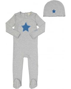 Neuf 9 Baby Boys Cotton Star & Pin Stretchie Hat Set - SB0CP4177