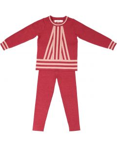 Neuf 9 Baby Girls Center Stripe Outfit - WB0CP4235B