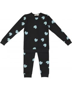 Neuf 9 Girls Trellis Heart Cotton Pajamas - WB0CP4255