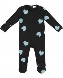 Neuf 9 Baby Girls Trellis Heart Cotton Stretchie - WB0CP4255B