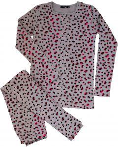 Noggi Girls Leopard Print Cotton Pajamas - 201011-945