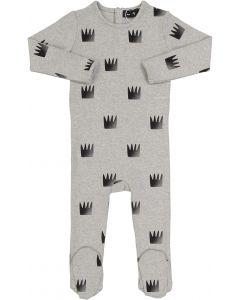 Peek-A-Boo Boys Girls Unisex Ribbed Crown Print Cotton Stretchie - SB0CY1147B