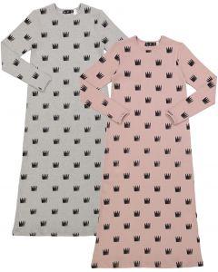 Peek-A-Boo Girls Ribbed Crown Print Cotton Nightgown - SB0CY1147N