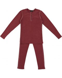Peek-A-Boo Girls Velour Ribbed Cotton Henley Pajamas - WB0CY1270