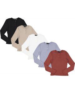 Peek-A-Boo Girls Long Sleeve Soft Ribbed Henley T-shirt - WB0CY1317TG