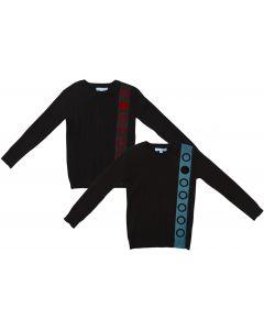 Pompomme Boys Long Sleeve Ribbon Sweater - 1014