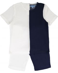 Pompomme Boys Nautical Outfit - 9937NA-WH