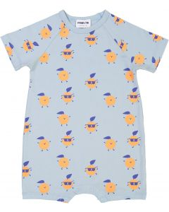 Pronto Baby Boys Orange Print Bubble Romper - SB0CY1187BB