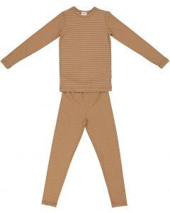 Pronto Girls Cotton Shimmer Stripe Pajamas - SB1CY1455E