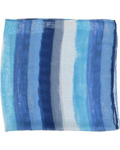 Riqki Open Distressed Stripe Israeli Tichel - Y1975-OPEN