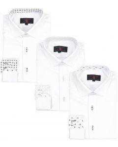 Samuel Jr Boys Long Sleeve Dress Shirt with Contrast - Spring 2021