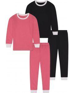 Shinu Unisex White Cuffed Cotton Pajamas - SC2
