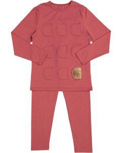 Siccinino Girls Patch Cotton Pajamas - 9738