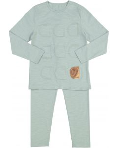 Siccinino Boys Girls Unisex Patch Cotton Pajamas - 9738