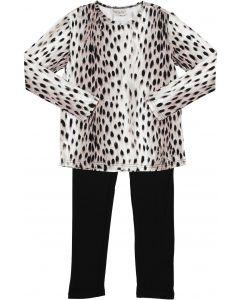 Sister Fruit Boys Girls Unisex Leopard Cotton Pajamas - 9727
