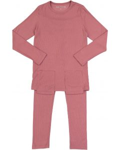 Sister Fruit Girls Micro Ribbed Cotton Pajamas - 9736
