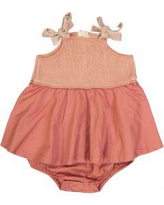 Slice Baby Girls Ribbed Knit Romper - SB0CY1159BG