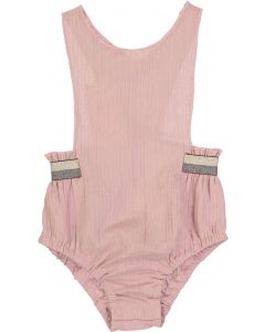 Slice Baby Girls Ribbed Lurex Waistband Bubble Romper - SB0CY1183BG