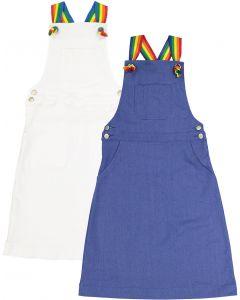 Smile Everyday Girls Rainbow Strap Denim Jumper - 9421