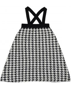 Space Gray Girls Fuzzy Houndstooth Jumper - WB0CY1309J