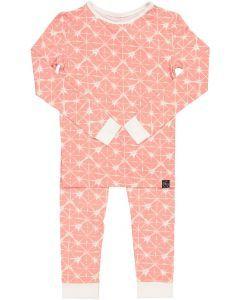 Sweet Bamboo Girls Geo Grid Bamboo Cotton Pajamas - GGP