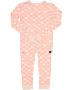 Sweet Bamboo Girls Scribble Hearts Bamboo Cotton Pajamas - SHP0