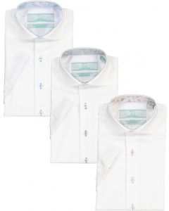 T.O. Collection Boys Short Sleeve Dress Shirt with Contrast - TOCBSS