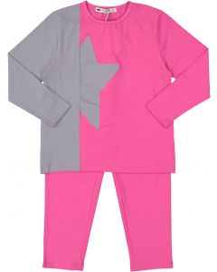 Teddy Bear Girls Split Star Cotton Pajamas - CS08PG