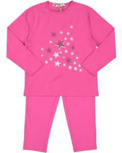 Teddy Bear Girls Scattered Stars Cotton Pajamas - SC06PG