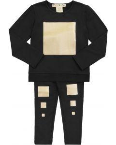 Teela Boys Girls Unisex Cotton Metallic Squares Pajamas - PJSS20-3