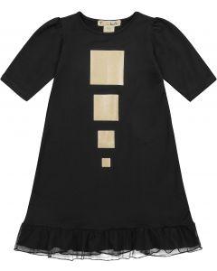 Teela Girls Cotton Metallic Squares Nightgown - PJSS20-7