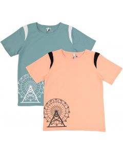 Three Bows Boys Short Sleeve Ferris Wheel T-shirt