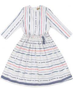 Tikie Studio Girls Postal Striped Dress - 9450
