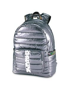 Top Trenz Scattered Stars Puffer Backpack - BP-PUFG-SNOW