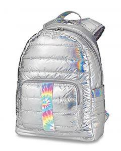 Top Trenz Metallic Puffer Tie Dye Strip Backpack - BP-PUFV2TIEDYE