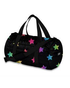 Top Trenz Multi Glitter Star Puffer Duffle Bag - DUF-MSTR3