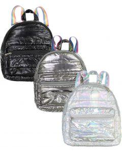 Top Trenz Mini Metallic Puffer Backpack - MINI-PUF2